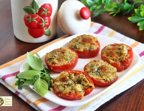 Pomodori gratinati con zucchine e mozzarella