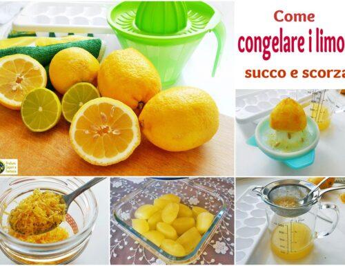 Congelare i limoni succo e scorza