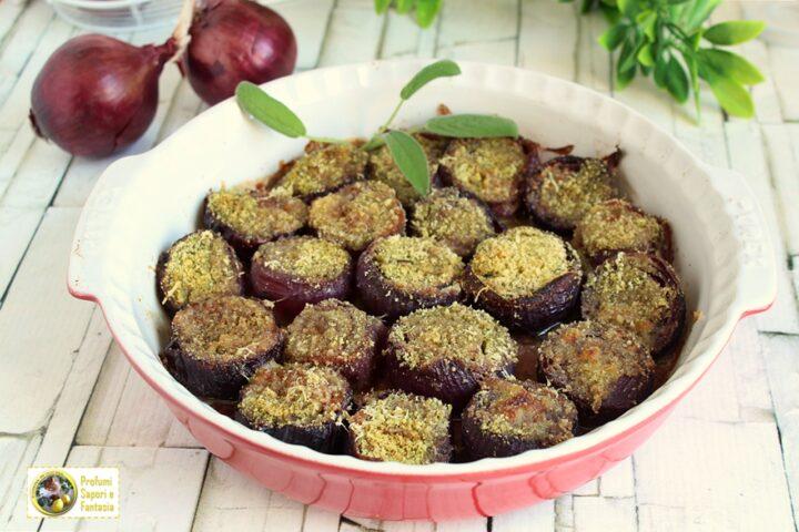 cipolle rosse al forno con parmigiano