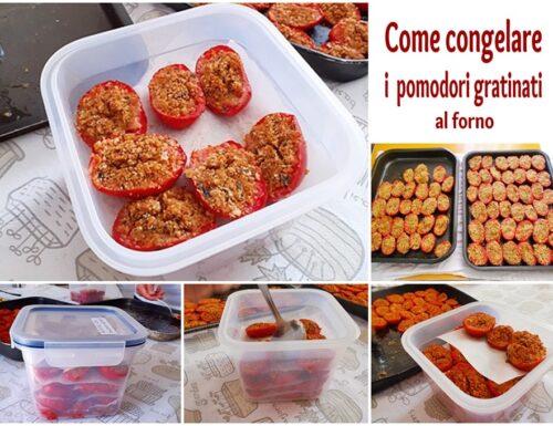 Congelare i pomodori gratinati al forno