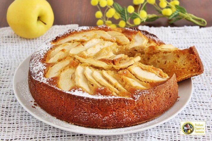 torta di mele al caramello