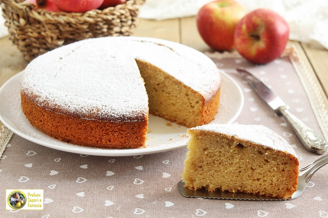 torta con le mele cotte frullate