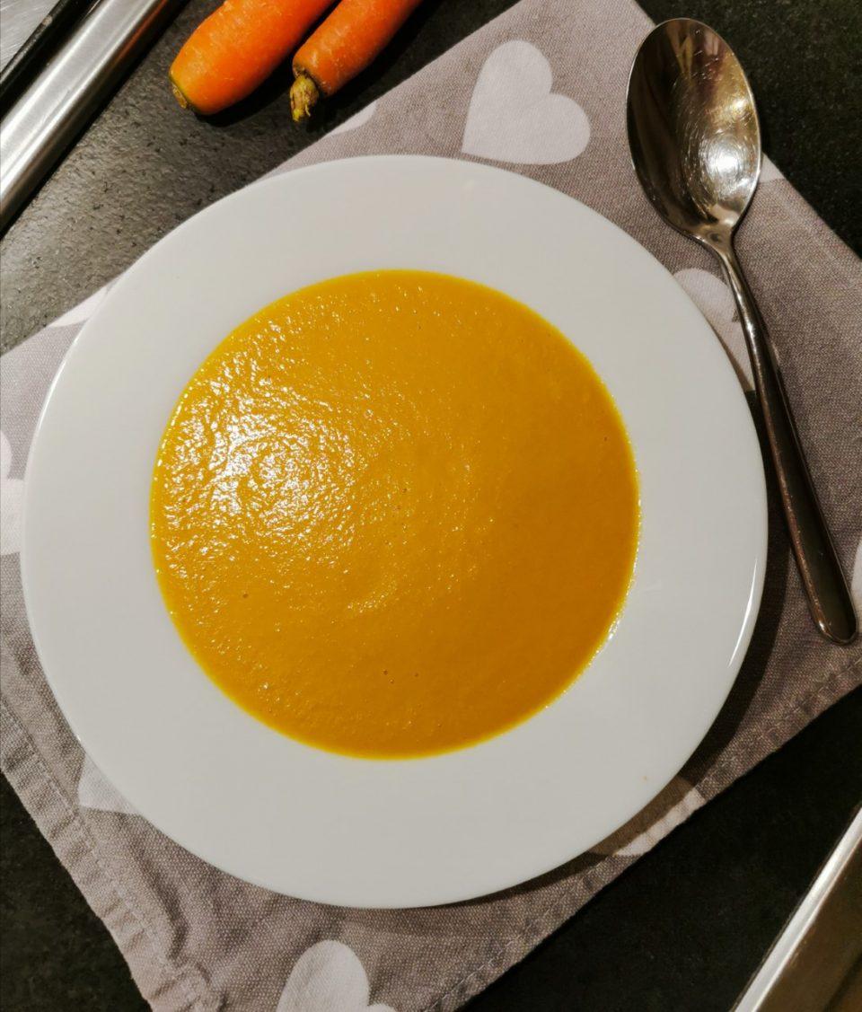 Vellutata di carote e cipolle molto delicata