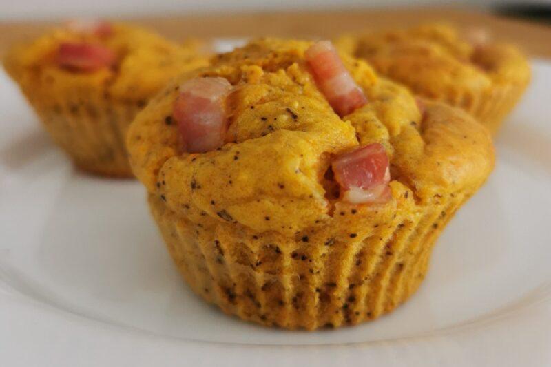 Muffin Bimby salati carote noci e pancetta