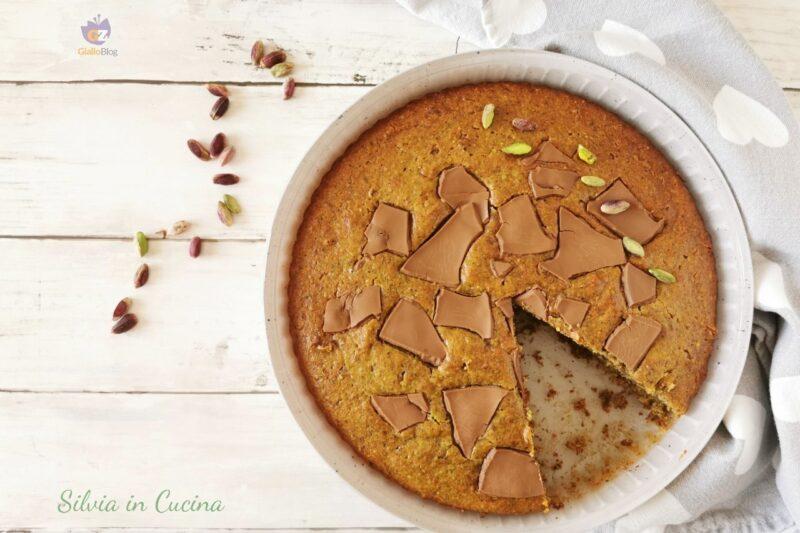 Torta Bimby pistacchio ricotta e cioccolato al latte