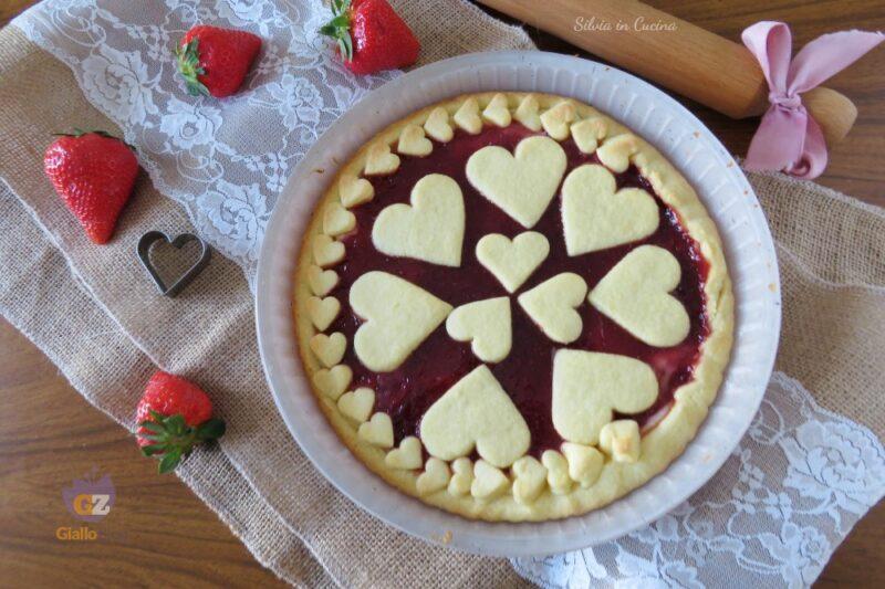 Crostata Bimby ricotta e fragole facilissima