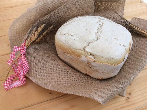 Pane con la macchina per il pane