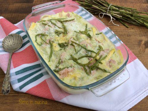 Lasagne agli asparagi selvatici
