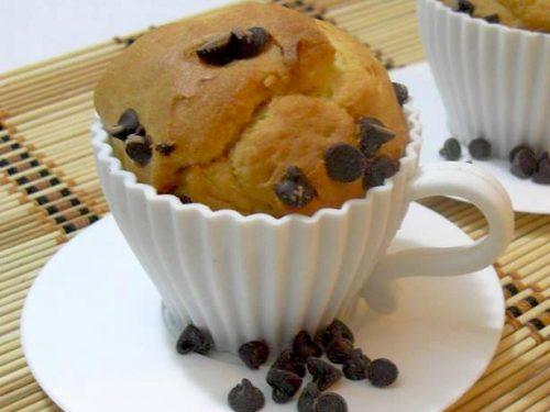 Muffins  con gocce di cioccolato preparati con il bimby