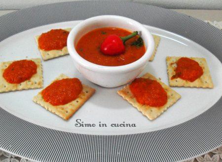 Salsa ai peperoni preparata con il Bimby