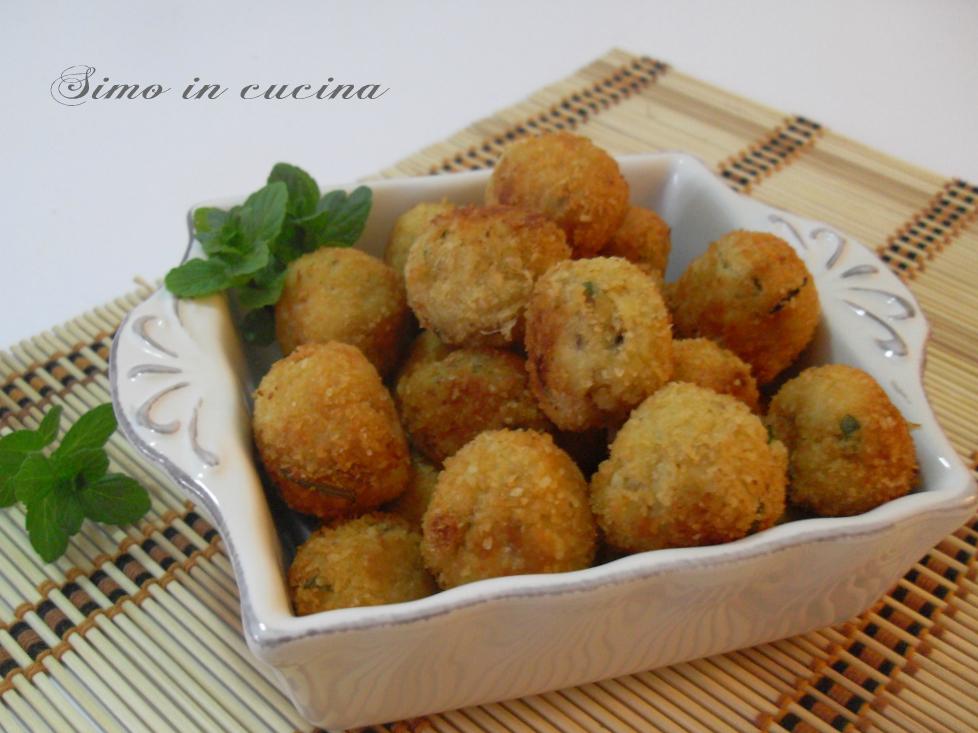 polpette fritte con tonno e patate