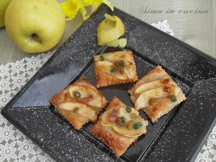 Quadroti di sfogliatine alle mele