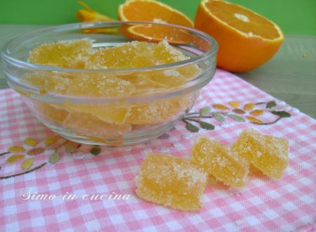Caramelle gel all'arancia