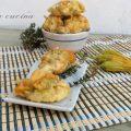 Frittelle di fiori di zucca al timo