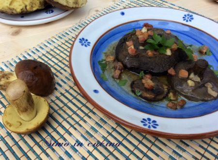Funghi leccini al forno