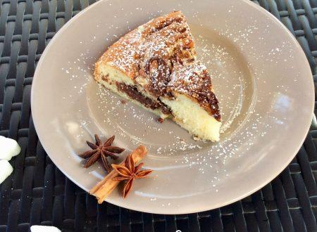 Torta morbida con nutella e philadelphia
