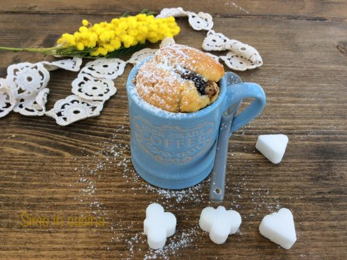 Muffin con cuore alla nutella bimby