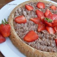 Crostata con mascarpone nutella e fragole