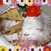 la torta  stracciatella di giallo zafferano rivisitata