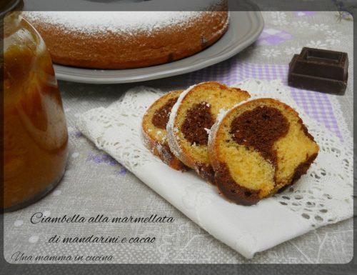 Ciambella alla marmellata di mandarini e cacao