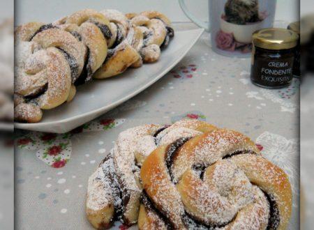 Girelle di pan brioche con nutella
