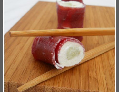 Sushi di bresaola e ricotta