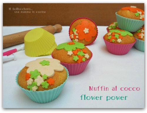 Muffin al cocco flower power