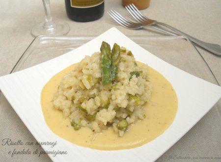 Risotto con asparagi e fonduta di parmigiano