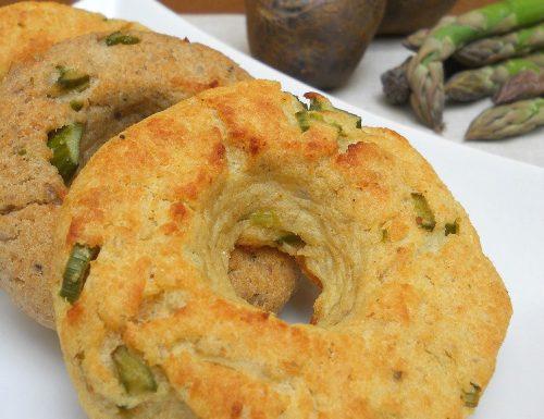 Ciambelline di patate e asparagi