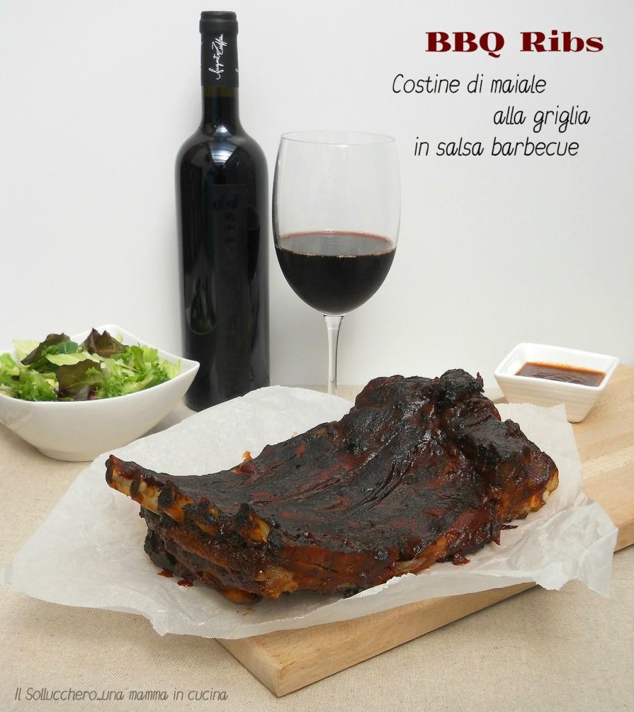 BBQ Ribs - Costine di maiale alla griglia in salsa barbecue
