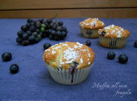 Muffin all'uva fragola