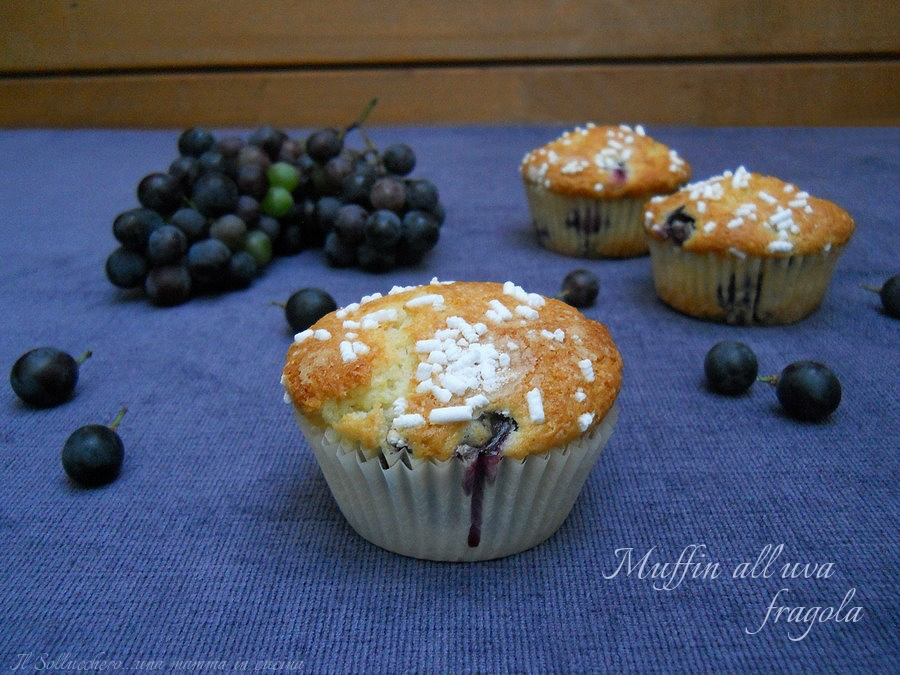 muffin uva fragola