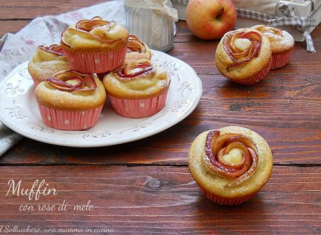 Muffin con rose di mele