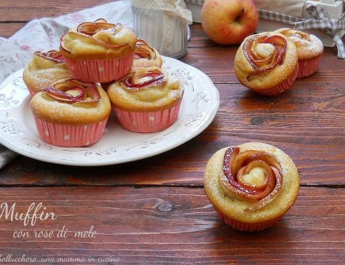 Muffin con rose di mele