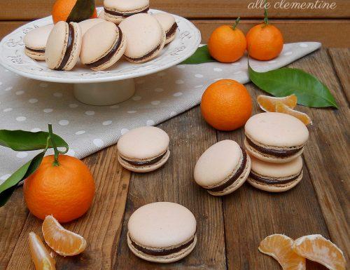 Macarons alle clementine con ganache extra fondente