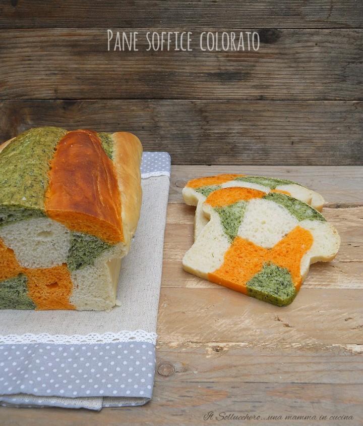 pane soffice colorato vert
