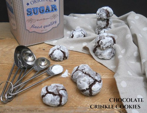 Chocolate Crinkle Cookies, biscotti morbidi al cioccolato