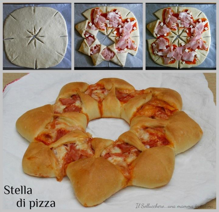 Collage stella di pizza bassa ris
