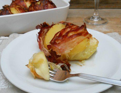 Patate ripiene con scamorza dolce e bacon croccante
