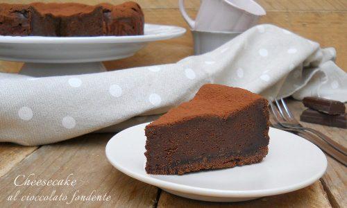 Cheesecake al cioccolato fondente e ricotta