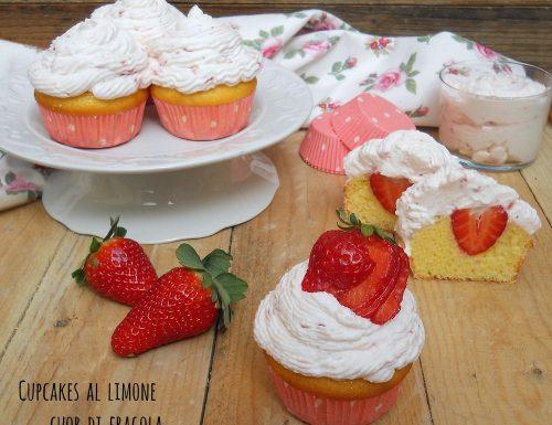 Cupcakes al limone cuor di fragola