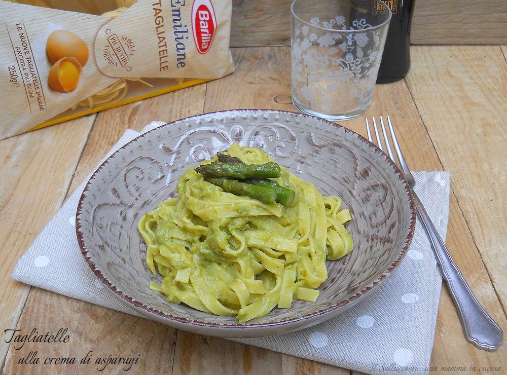Tagliatelle alla crema di asparagi