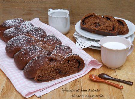Treccia di pan brioche al cacao con nutella
