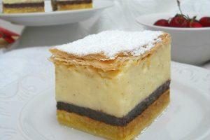 Krempita, torta fredda alle ciliegie