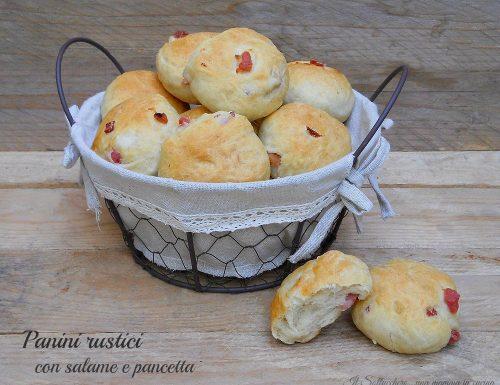 Panini rustici con salame e pancetta