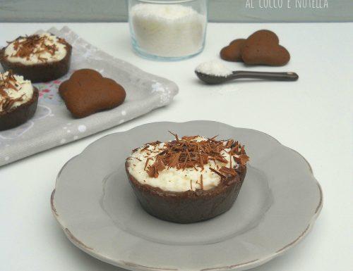 Mini cheesecake al cocco e nutella, senza cottura