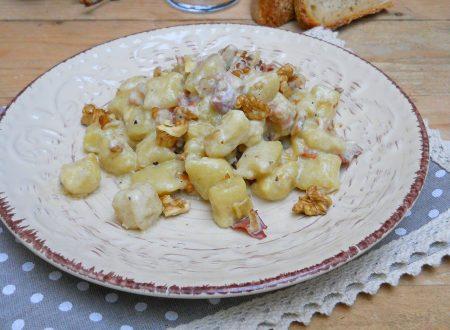 Gnocchi speck e noci con mascarpone