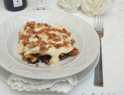 Cannelloni al radicchio, scamorza e bacon croccante