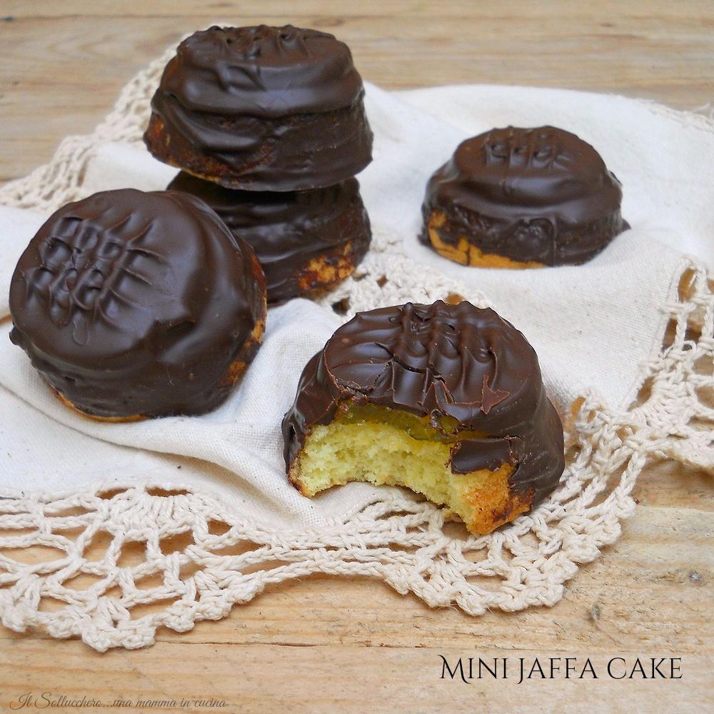 Mini jaffa cake, tortine morbide arancia e cioccolato