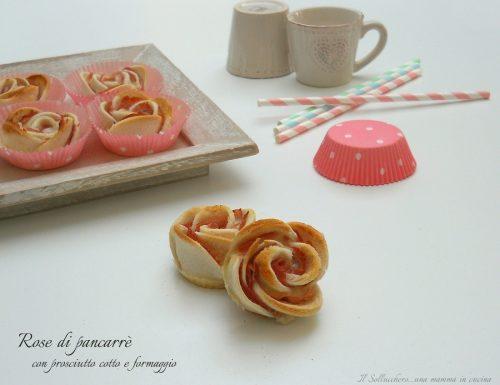 Rose di pancarrè con prosciutto cotto e formaggio